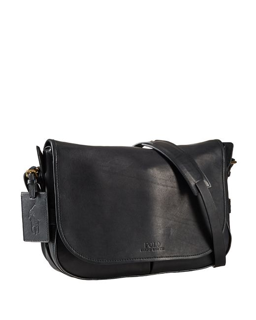 Polo Ralph Lauren | Black Leather Messenger Bag for Men | Lyst