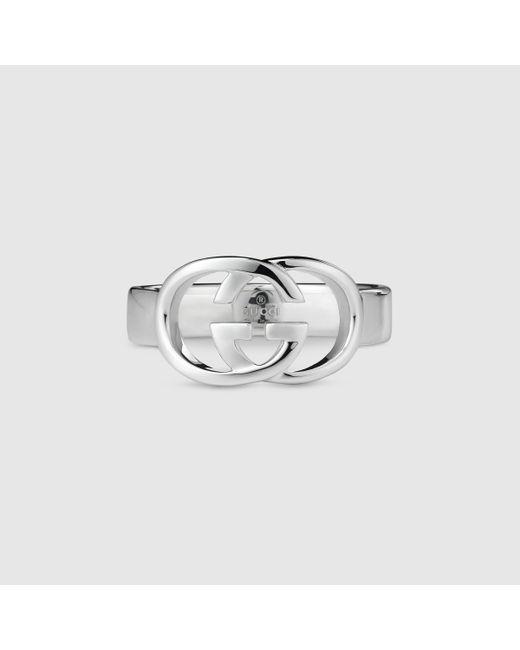 Gucci | Metallic Thin Band With Interlocking G Motif for Men | Lyst