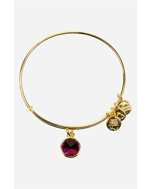 ALEX AND ANI | Birthstone Expandable Wire Bangle | Lyst