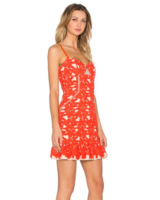 Three floor cheeky summer dress in orange save 40 lyst for 11th floor apparel