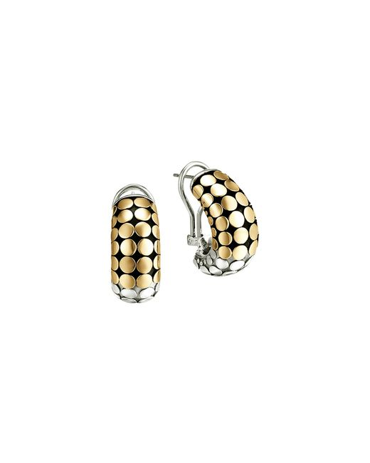 John Hardy | Metallic Dot 18k Gold And Sterling Silver Buddha Belly Earrings | Lyst