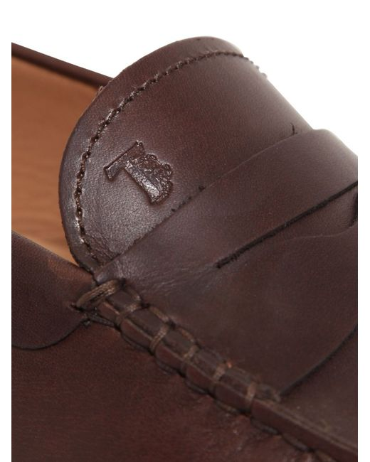 Tod's | Brown Gommino 122 Tie Suede Driving Shoes for Men | Lyst