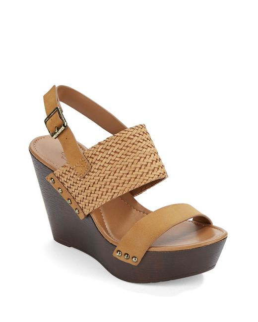 Charles by Charles David | Brown Isola Leather Platform Wedges | Lyst