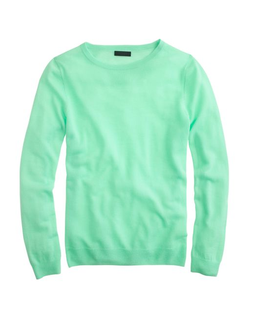 J.Crew | Green Italian Featherweight Cashmere Long-sleeve T-shirt | Lyst