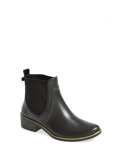 kate spade new york | Black 'sedgewick' Rubber Rain Boot | Lyst