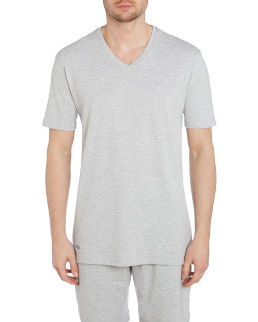 Lacoste | Gray Nightwear V-neck T-shirt for Men | Lyst