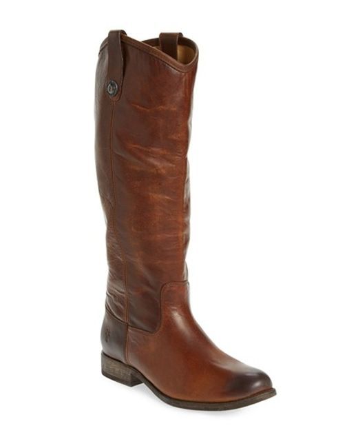 Frye 'melissa Button' Boot in Brown | Lyst