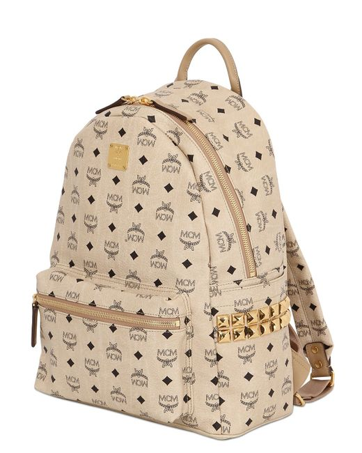 MCM | Natural Medium Stark Coated Canvas Backpack | Lyst