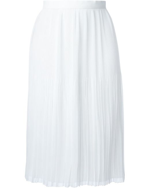 givenchy sheer pleated skirt in white save 65 lyst