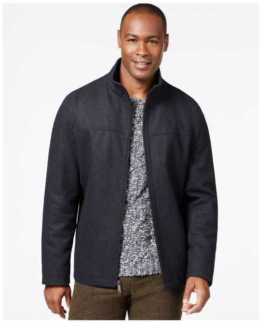 Perry Ellis | Gray Wool-blend Zip-front Jacket for Men | Lyst