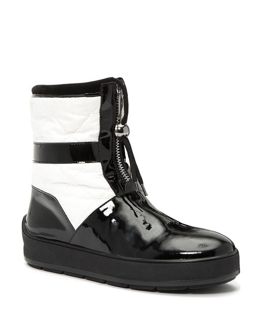 aquatalia kali patent leather quilted boots lyst