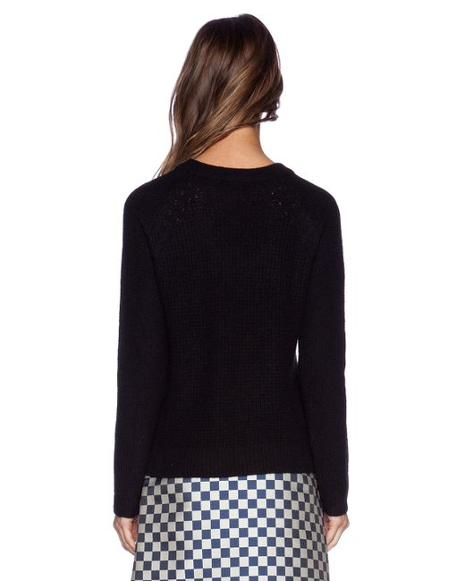 marc by marc jacobs hamilton sweater in black lyst. Black Bedroom Furniture Sets. Home Design Ideas