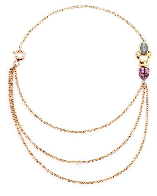 Daniela Villegas | Metallic 18k Yellow Gold Sapphire & Emerald Khepri Bracelet | Lyst