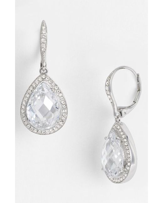 Nadri | Metallic Pear Drop Earrings (nordstrom Exclusive) | Lyst