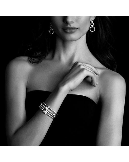 David Yurman | Metallic Petite Wheaton Bracelet With Amethyst And Diamonds | Lyst