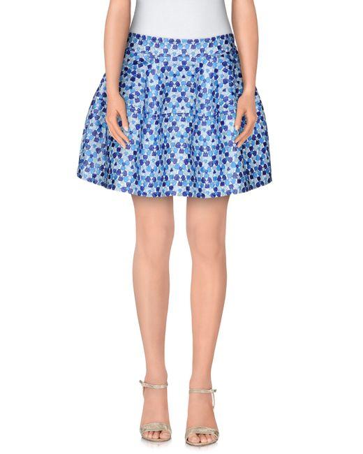 P.A.R.O.S.H. | Blue Mini Skirt | Lyst