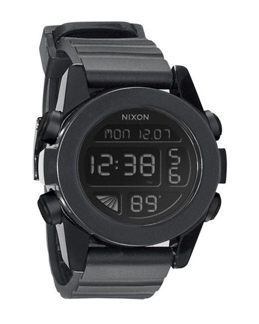 Nixon | Black 'the Unit' Round Digital Watch | Lyst