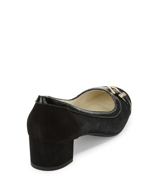 Anne Klein | Black Hubert Buckled Pumps | Lyst