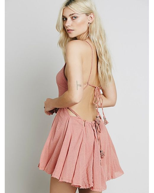 Free People | Pink Live For Your Smile Dress | Lyst
