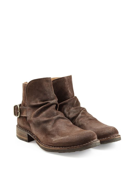 fiorentini baker suede ankle boots brown in brown for