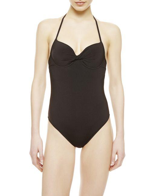 La Perla | Black Padded Swimsuit | Lyst