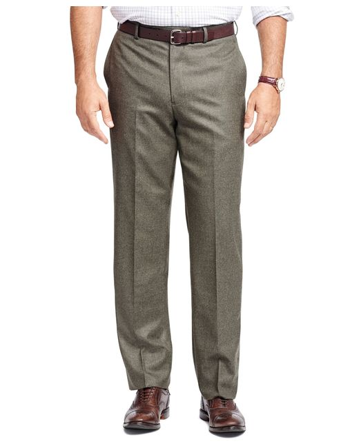 Brooks Brothers | Green Madison Fit Flannel Trousers for Men | Lyst