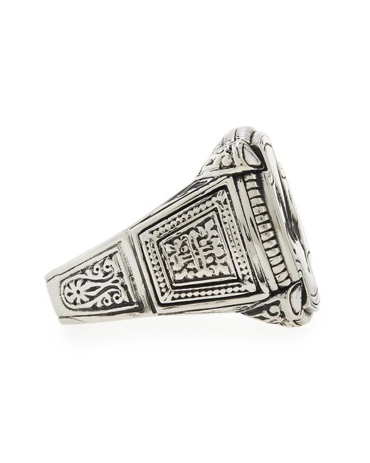 Konstantino | Metallic Men's Pegasus Square Ring for Men | Lyst