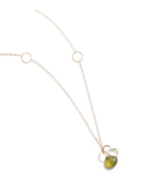 Melissa Joy Manning | Green Idocrase And Lemon Quartz Drop Necklace | Lyst