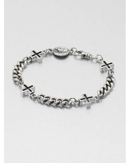 King Baby Studio | Metallic Ancient Cross Chain Bracelet | Lyst