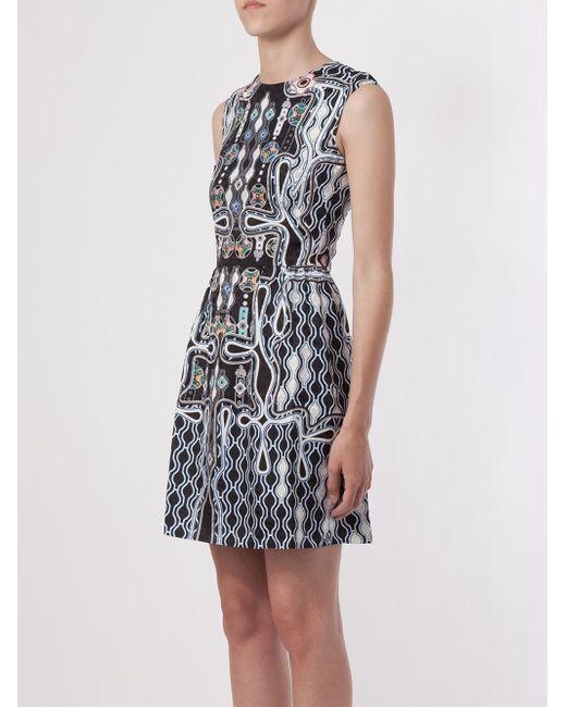 Peter Pilotto   Black Digital Print Dress   Lyst