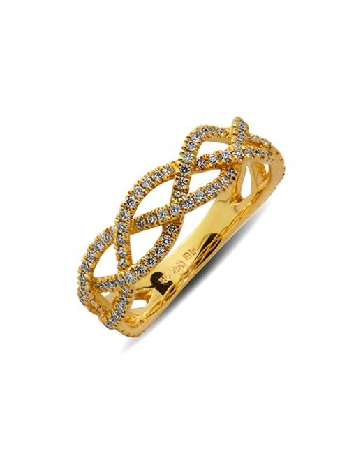 Bony Levy   Yellow Braided Diamond Ring (limited Edition) (nordstrom Exclusive)   Lyst