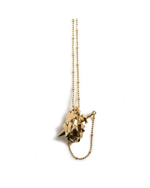 Kasun | Metallic Vampire Heart Pendant Gold | Lyst