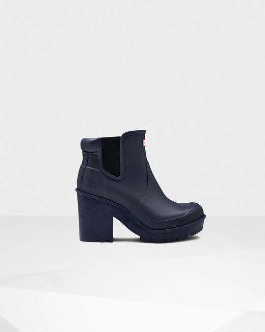 Original Womens Green Block Heel Chelsea Boots | Official Hunter Boots Store