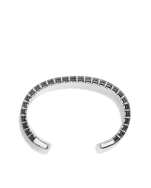 David Yurman | Black Forged Carbon Honey Comb Bracelet In Silver for Men | Lyst