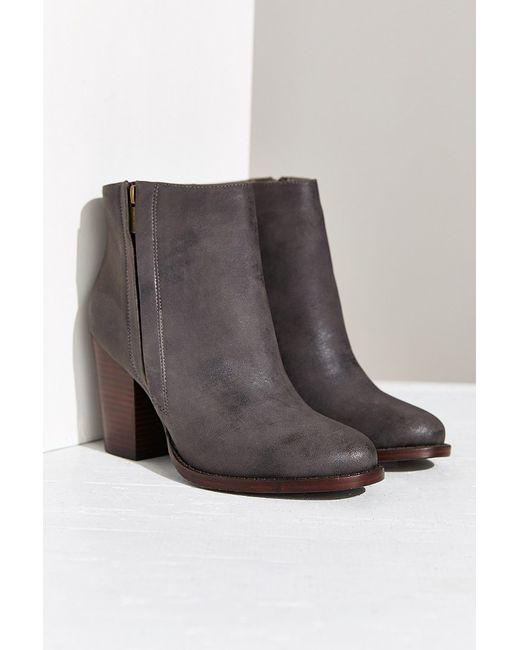 Silence + Noise | Gray Half-stacked Heeled Ankle Boot | Lyst