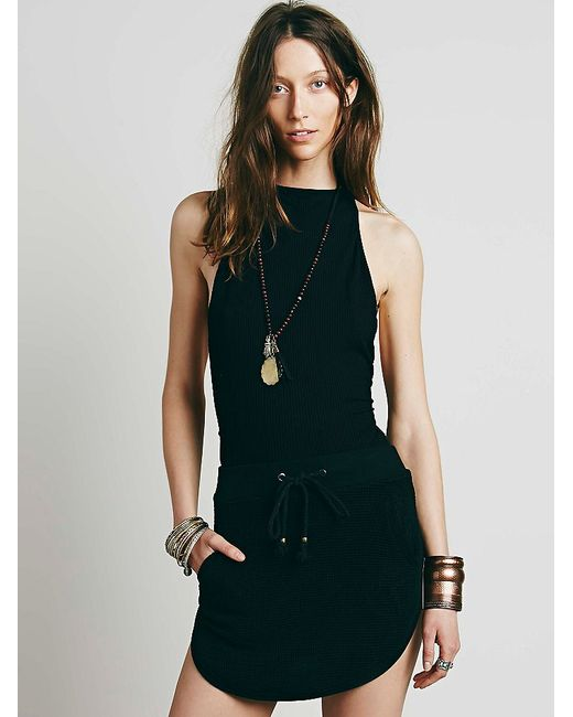 Free People | Black Extreme T-back Seamless Cami | Lyst
