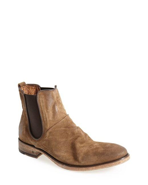 John Varvatos Fleetwood Chelsea Boot In Brown For Men