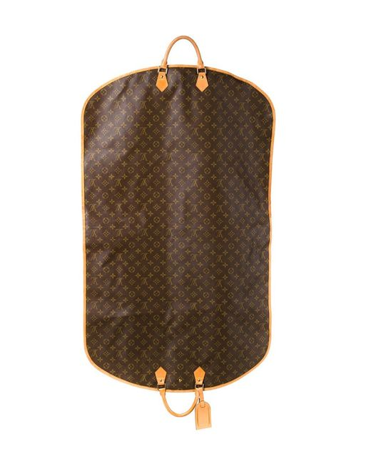 Louis Vuitton Garment Cover With Handles In Brown Lyst