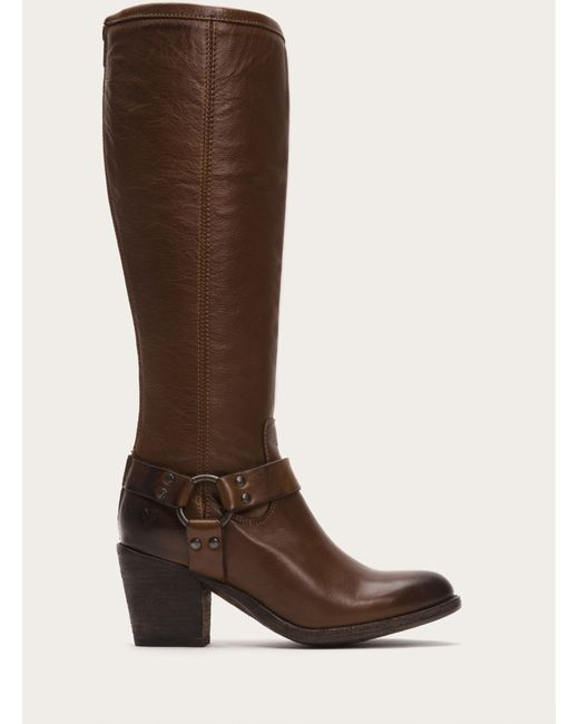 Frye | Brown Tabitha Harness Tall | Lyst