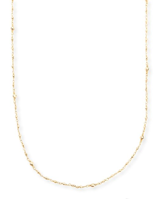 Mizuki | Metallic 14k Gold-beaded Station Necklace | Lyst