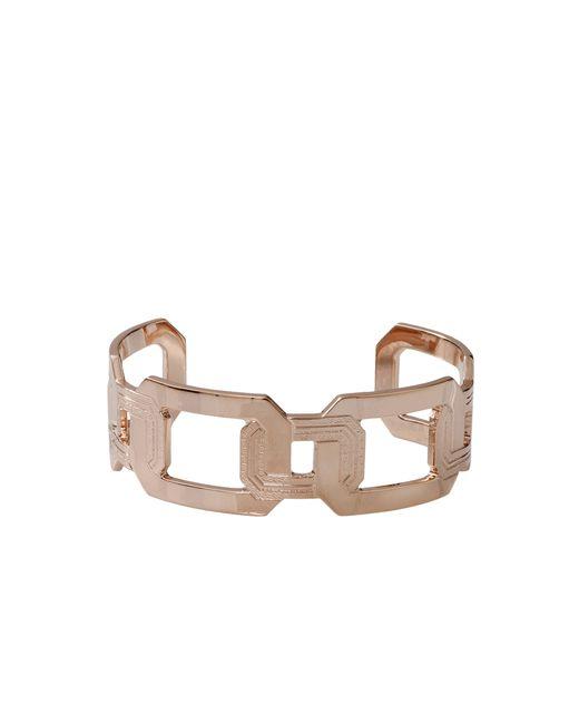 Rebecca | Metallic Elizabeth Square Cuff Bracelet | Lyst
