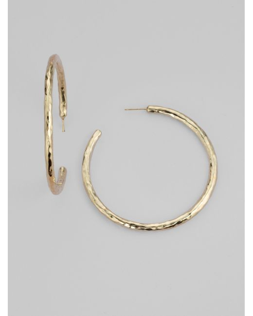 Ippolita | Metallic Glamazon 18k Yellow Gold #4 Hoop Earrings/2.15 | Lyst