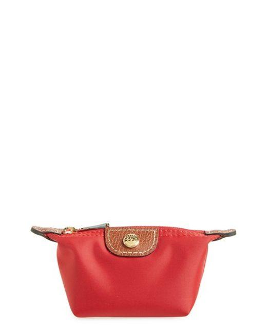 Longchamp | Red 'le Pliage' Coin Purse | Lyst