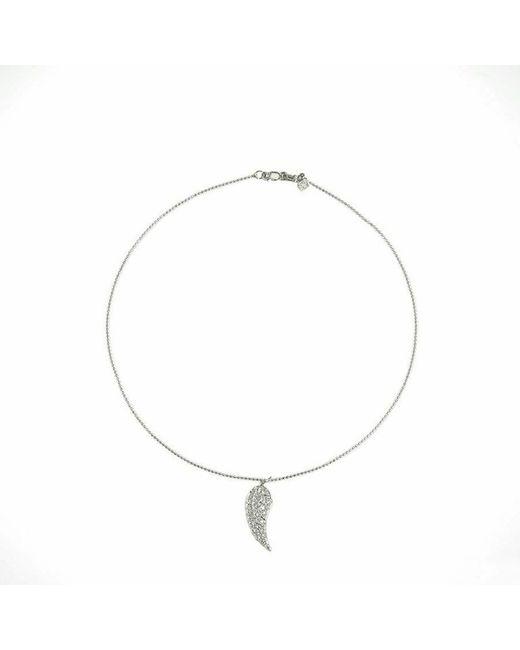Sydney Evan | White Angel Wing Necklace | Lyst