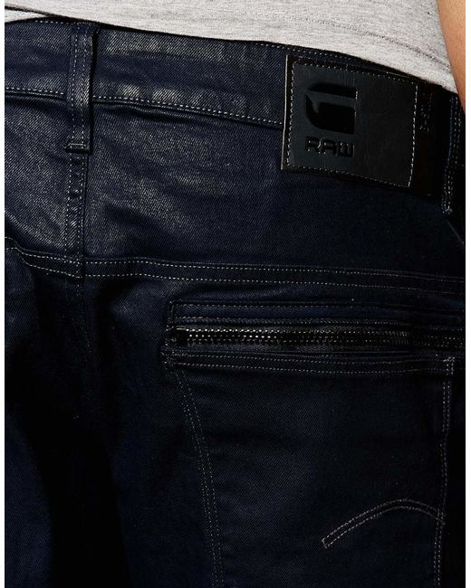g star raw jeans arc 3d slim fit stretch dark aged wash in. Black Bedroom Furniture Sets. Home Design Ideas