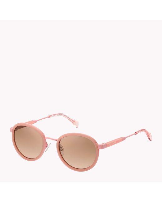 Tommy Hilfiger | Pink Round Frame Sunglasses | Lyst