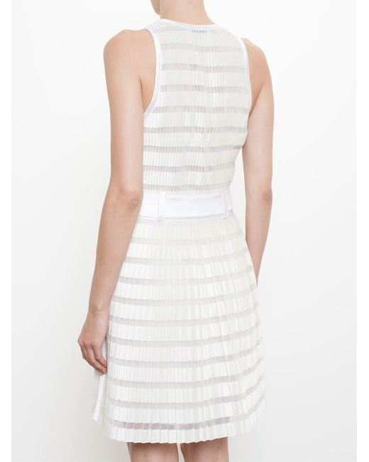 3 1 phillip lim pleated dress with fabric belt in beige