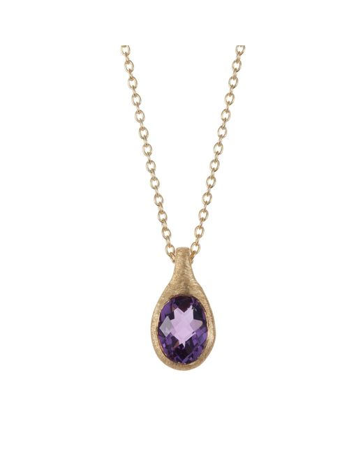 Caroline Creba | Metallic 18ct Gold Plated Sterling Silver 1.25ct Amethyst | Lyst