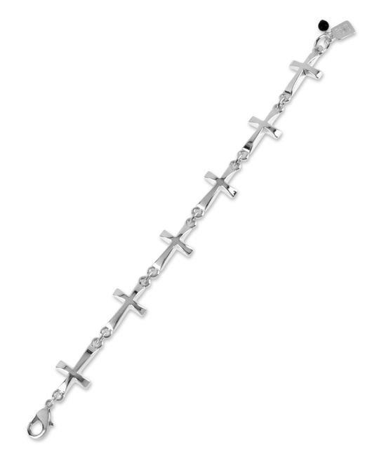 Robert Lee Morris | Metallic Silver-tone Cross Link Bracelet | Lyst