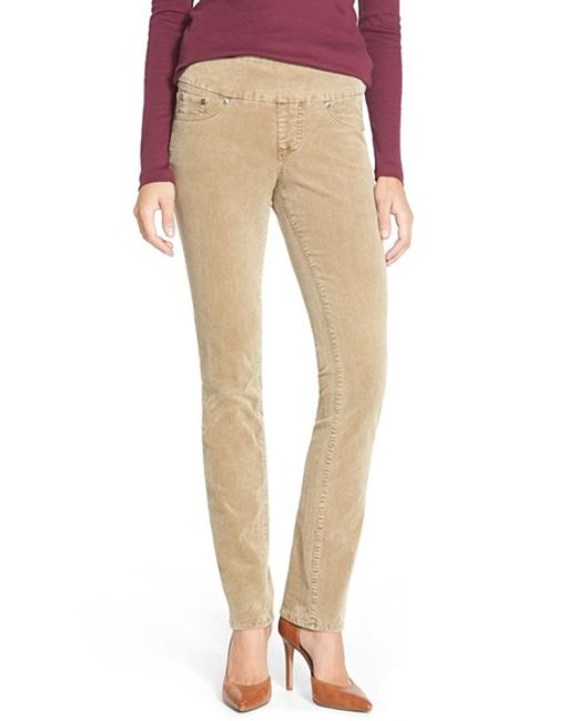 Jag Jeans | Natural 'peri' Pull-on Stretch Corduroy Leg Pants | Lyst